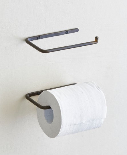 Toilettenpapierhalter, Eisen & Messing