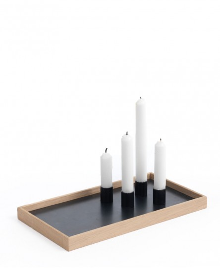 Kerzentablett Candle Tray, Eiche