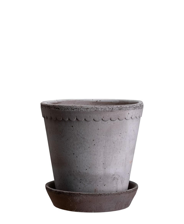 Pflanztopf 'Helena', Grau, 2 Größen