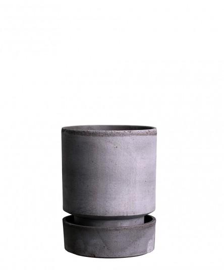 Pflanztopf 'The Hoff', Grau, 2 Größen